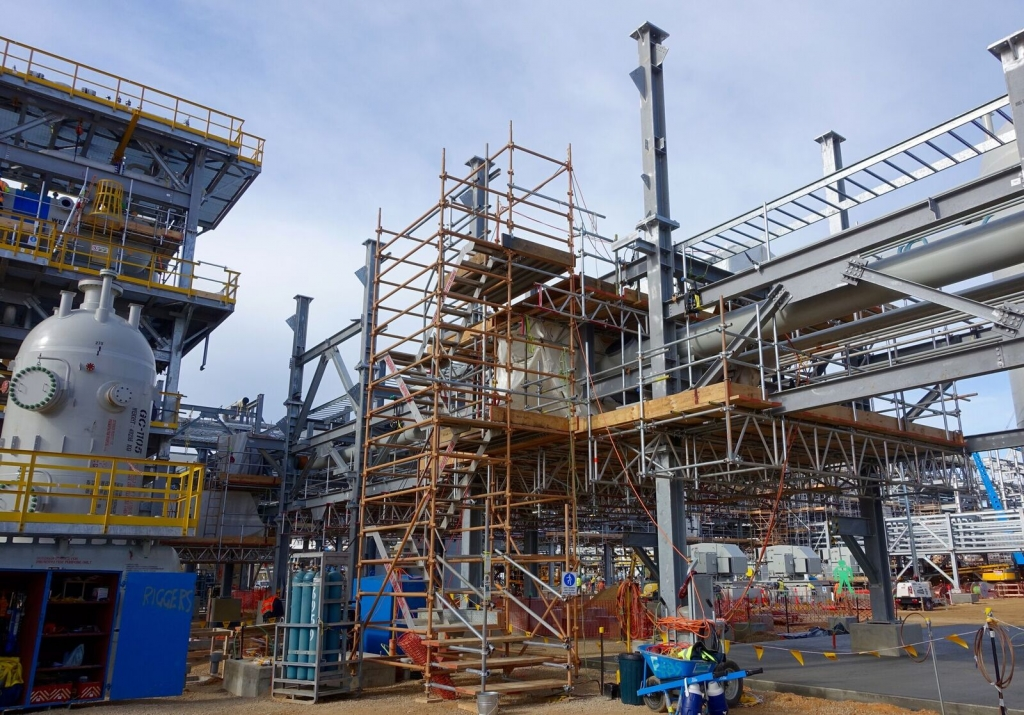 scaffold and rigging works at longford power station